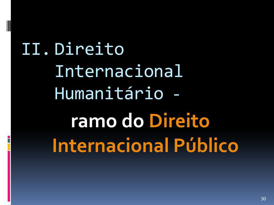 Direito Internacional Humanitário -