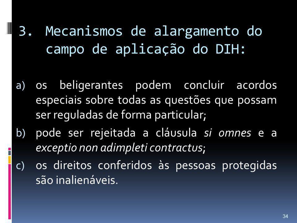 Mecanismos de alargamento do campo de aplicação do DIH: