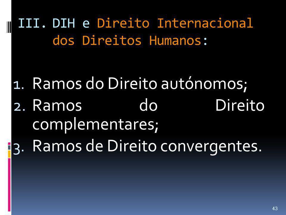 DIH e Direito Internacional dos Direitos Humanos: