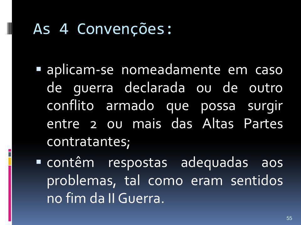 As 4 Convenções: