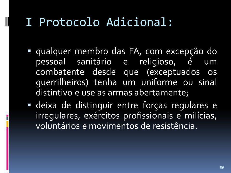 I Protocolo Adicional: