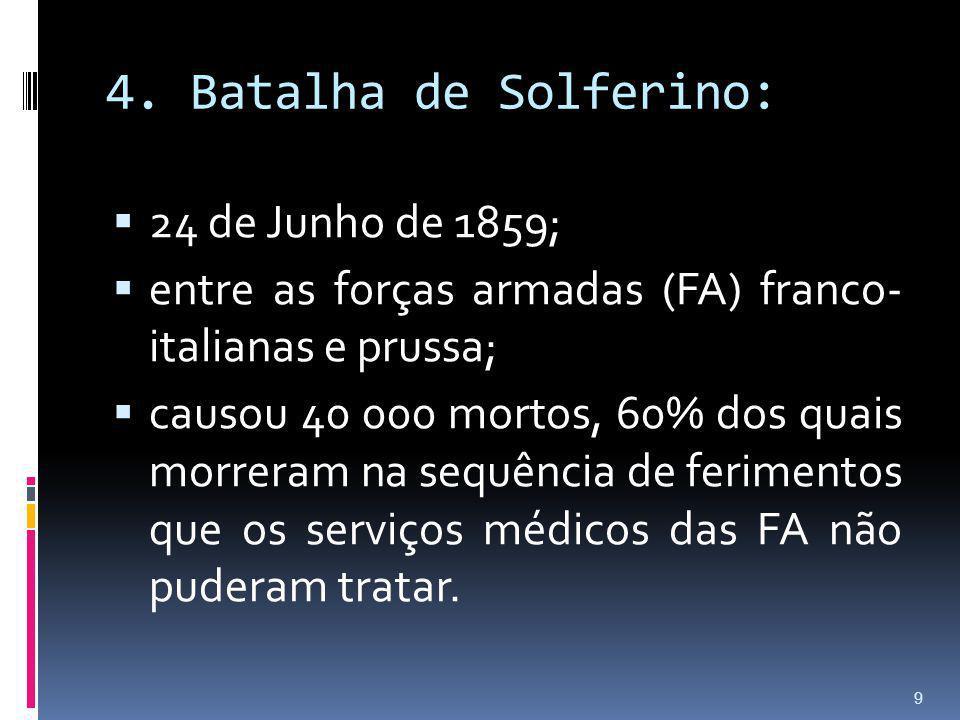 4. Batalha de Solferino: 24 de Junho de 1859;