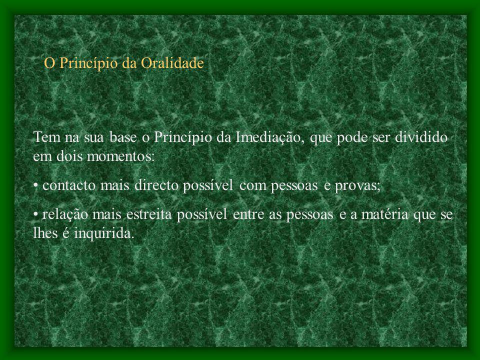 O Princípio da Oralidade
