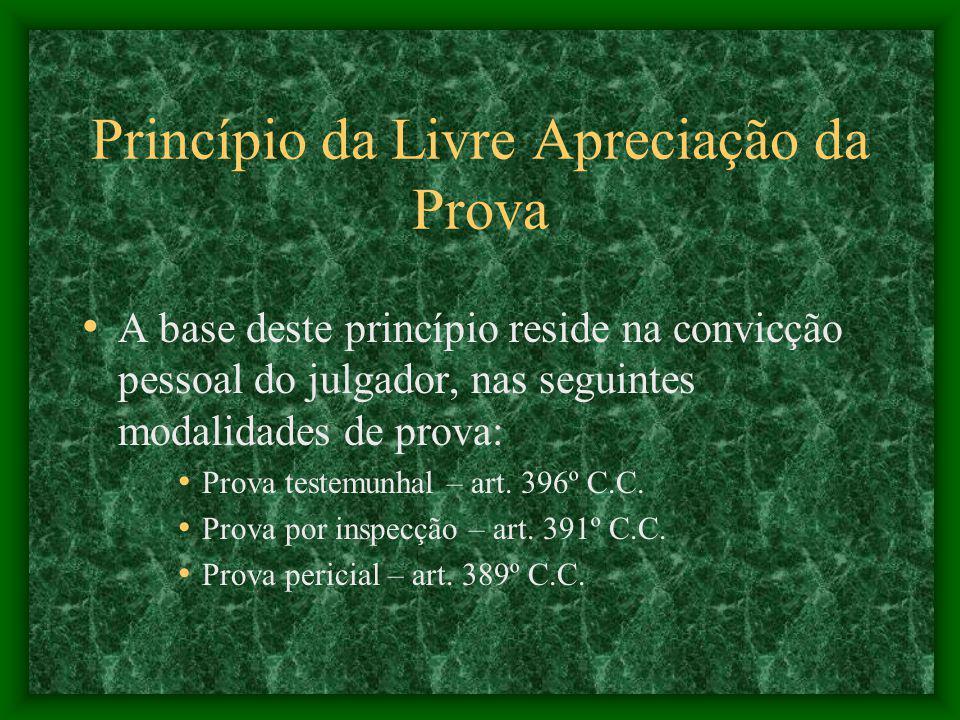 Princípio da Livre Apreciação da Prova