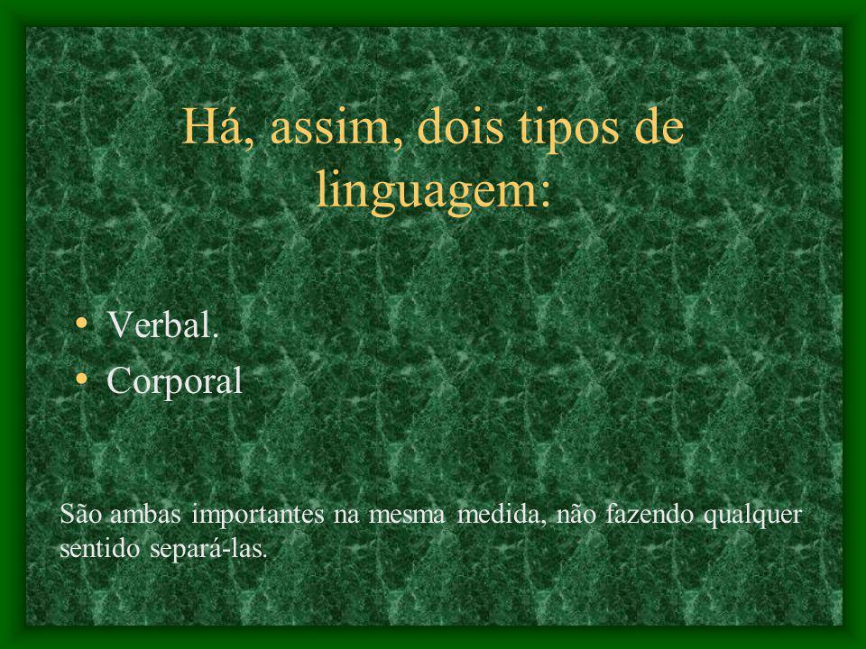 Há, assim, dois tipos de linguagem: