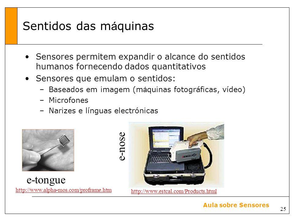Sentidos das máquinas e-nose e-tongue