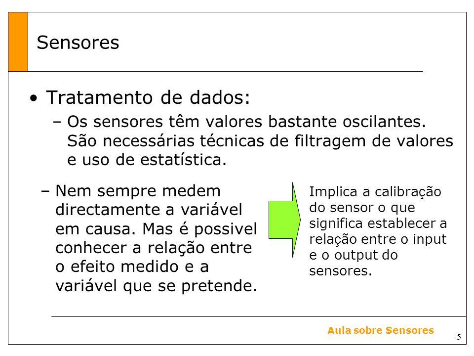 Sensores Tratamento de dados: