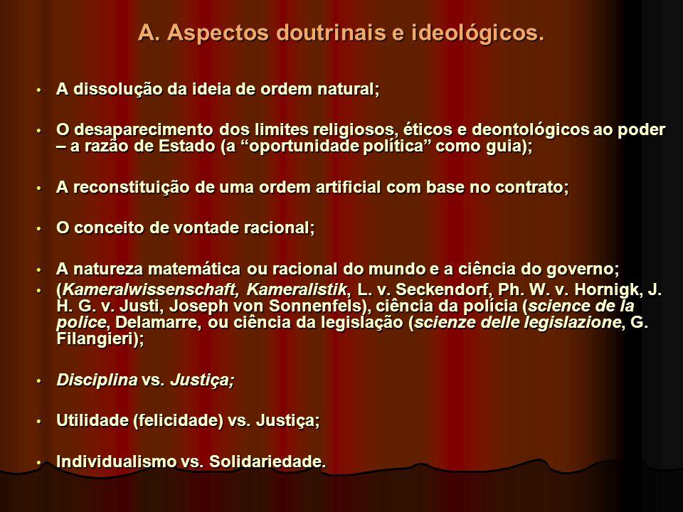 A. Aspectos doutrinais e ideológicos.