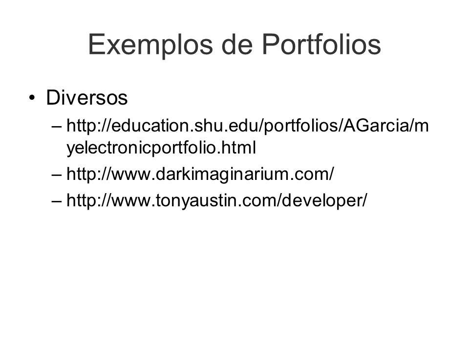 Exemplos de Portfolios