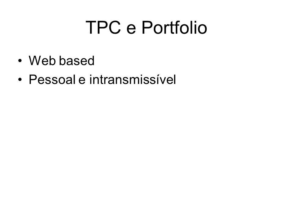TPC e Portfolio Web based Pessoal e intransmissível