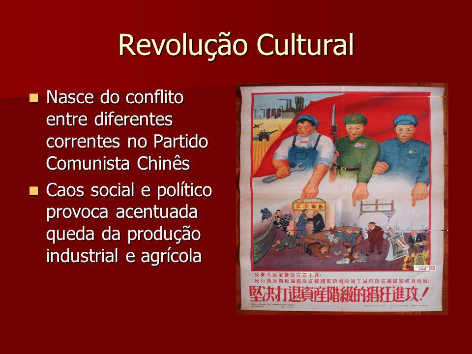 Revolução Cultural Nasce do conflito entre diferentes correntes no Partido Comunista Chinês.