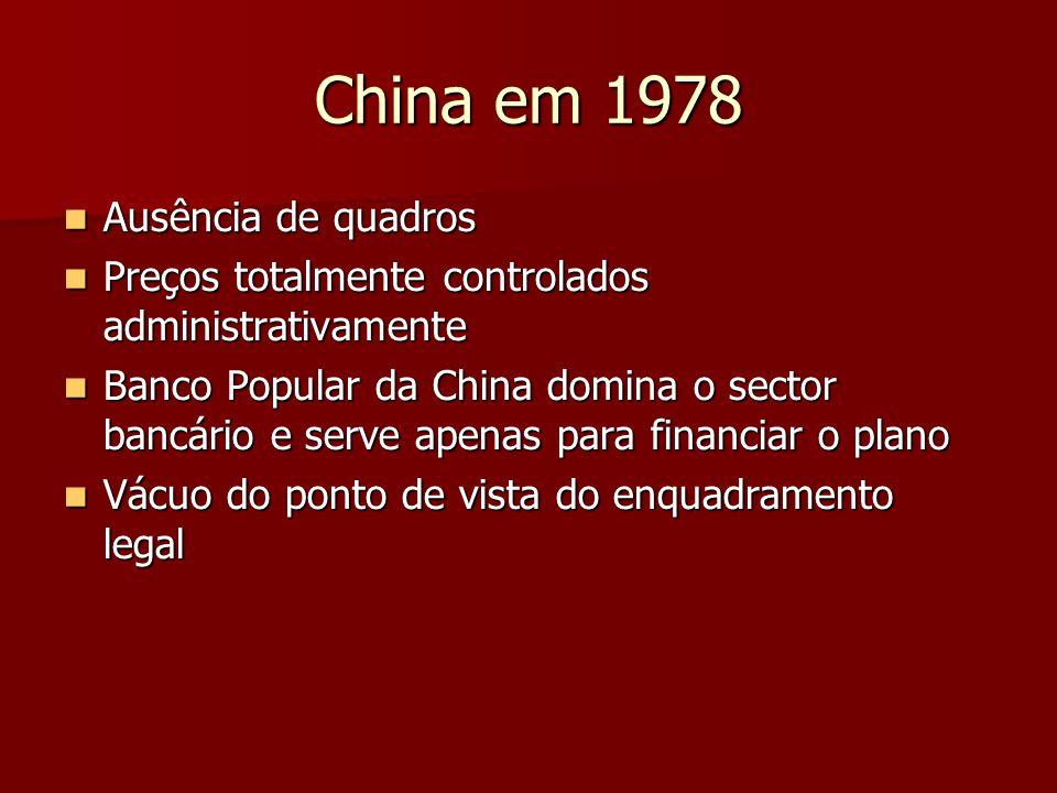 China em 1978 Ausência de quadros