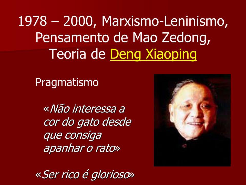 1978 – 2000, Marxismo-Leninismo, Pensamento de Mao Zedong, Teoria de Deng Xiaoping