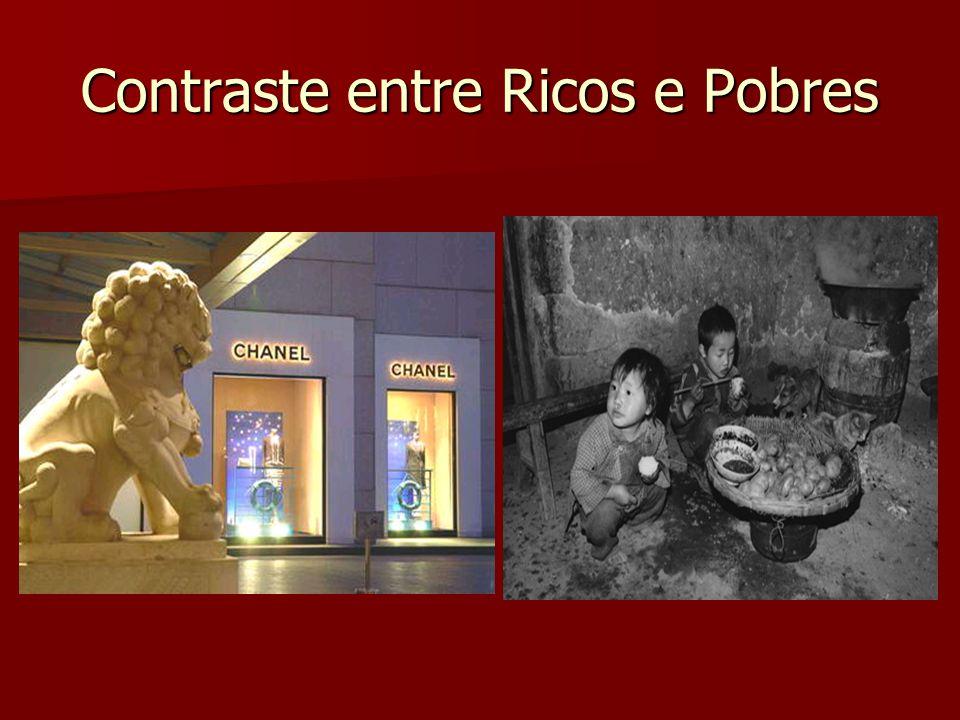 Contraste entre Ricos e Pobres