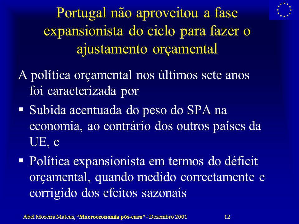 Portugal não aproveitou a fase expansionista do ciclo para fazer o ajustamento orçamental