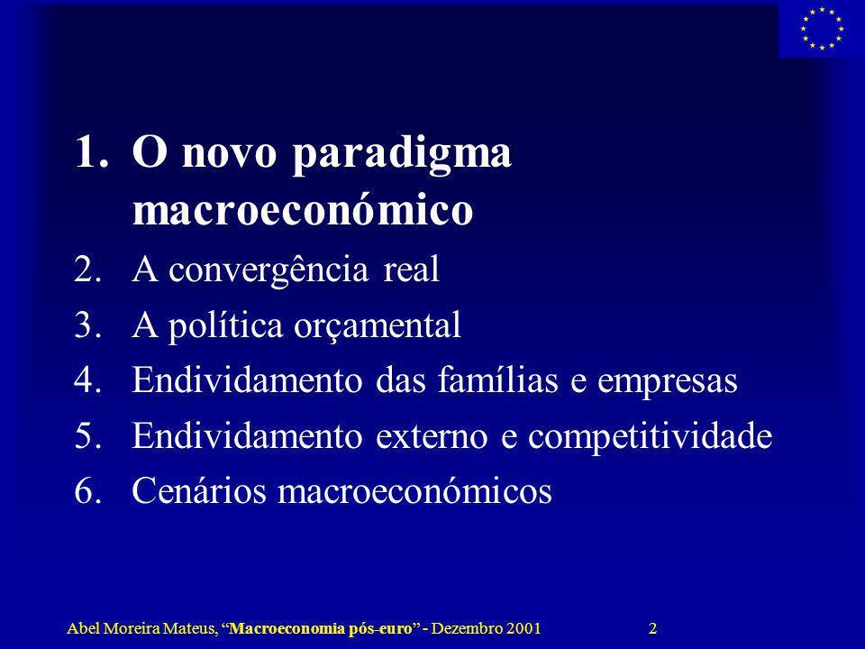 O novo paradigma macroeconómico