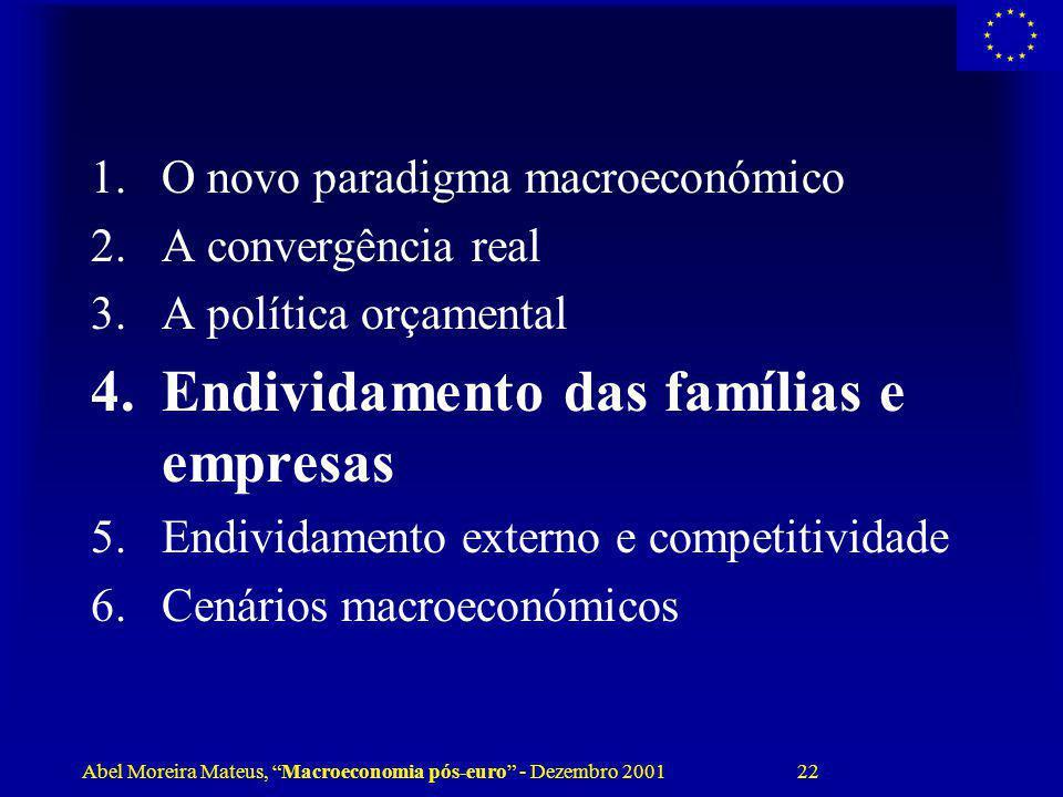 Endividamento das famílias e empresas