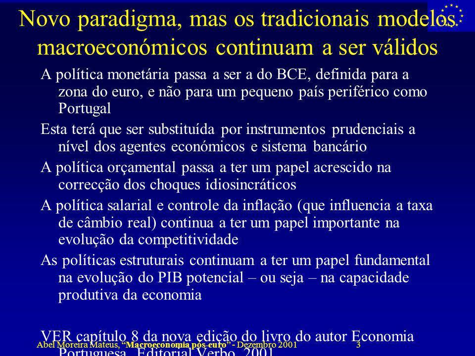 Novo paradigma, mas os tradicionais modelos macroeconómicos continuam a ser válidos