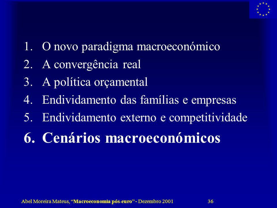 Cenários macroeconómicos
