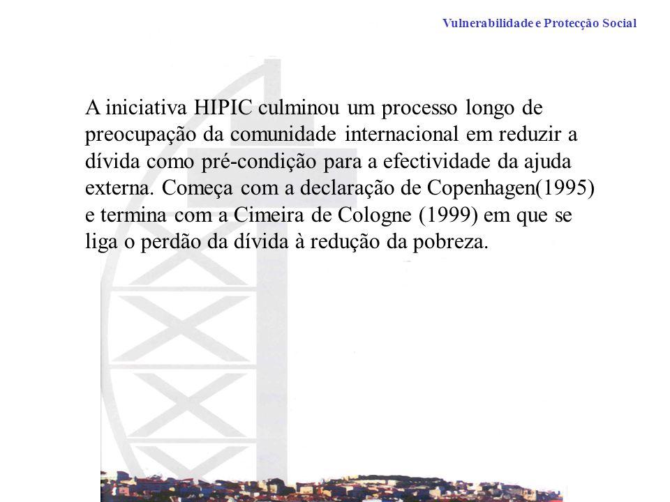 A iniciativa HIPIC culminou um processo longo de preocupação da comunidade internacional em reduzir a dívida como pré-condição para a efectividade da ajuda externa.