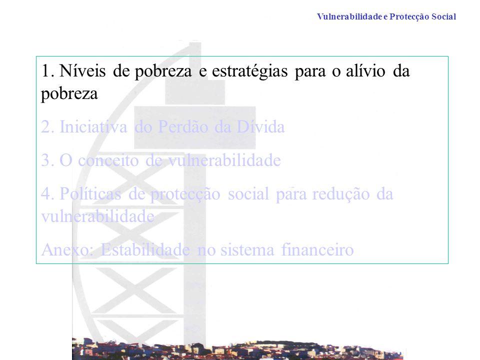 1. Níveis de pobreza e estratégias para o alívio da pobreza