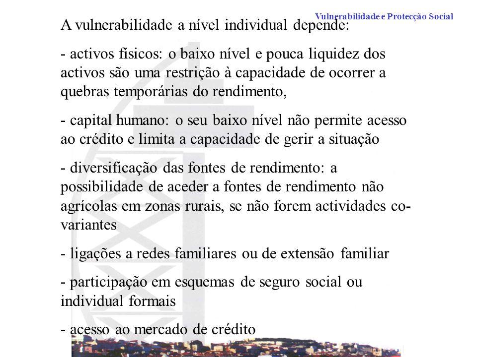 A vulnerabilidade a nível individual depende: