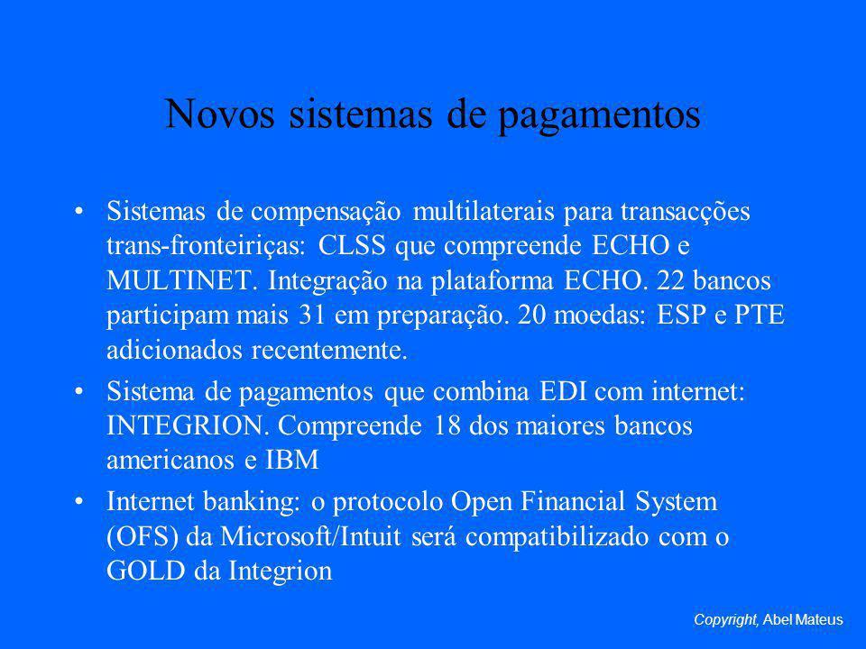 Novos sistemas de pagamentos