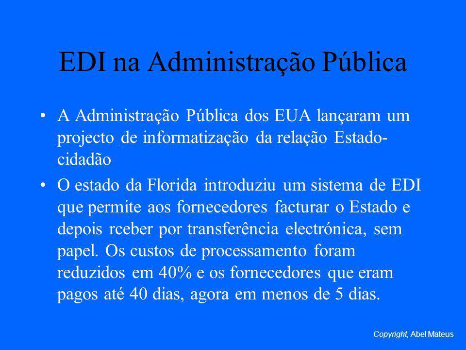 EDI na Administração Pública