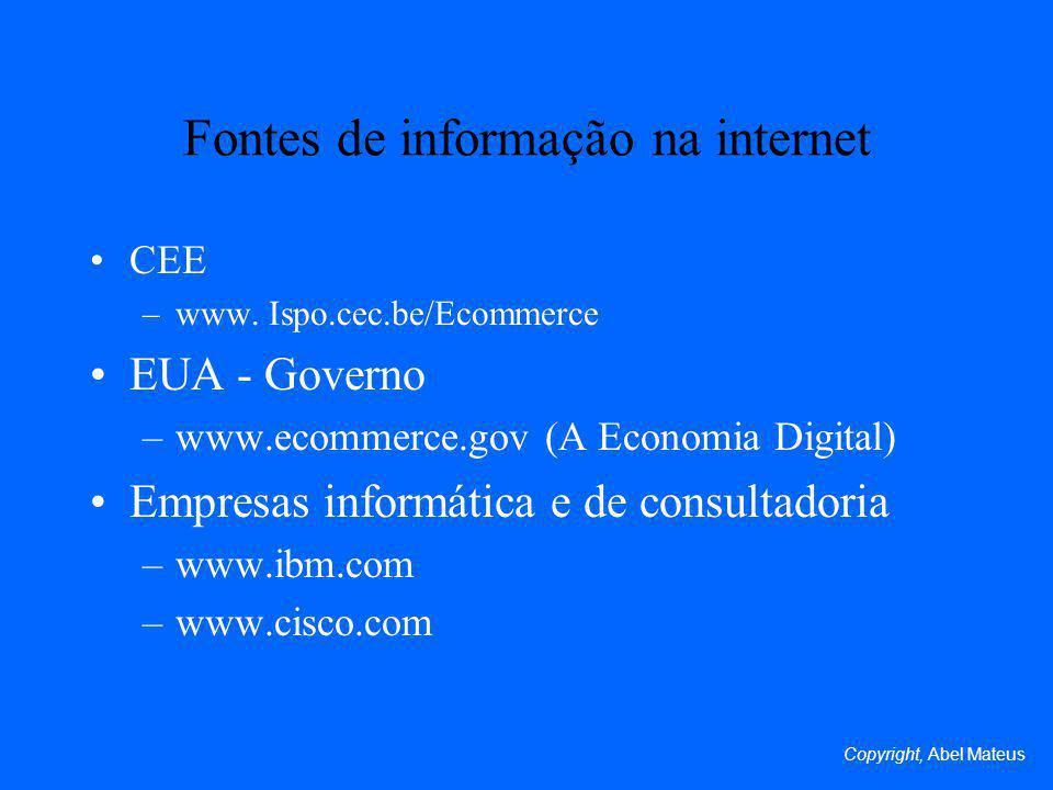 Fontes de informação na internet