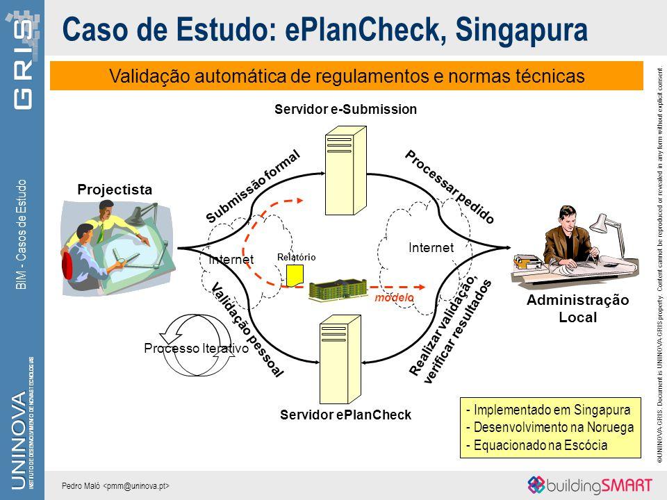 Caso de Estudo: ePlanCheck, Singapura