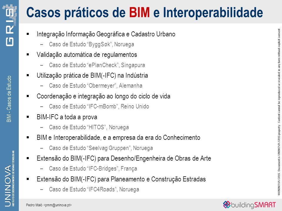 Casos práticos de BIM e Interoperabilidade