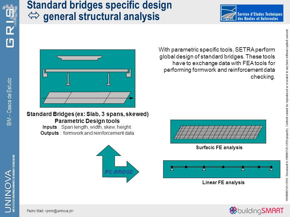 Standard bridges specific design  general structural analysis