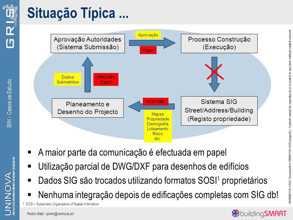 Situação Típica ... A maior parte da comunicação é efectuada em papel