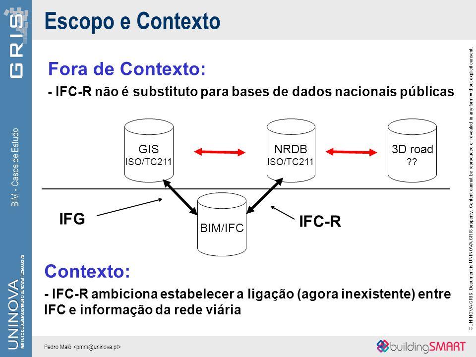 Escopo e Contexto Fora de Contexto: Contexto: IFG IFC-R