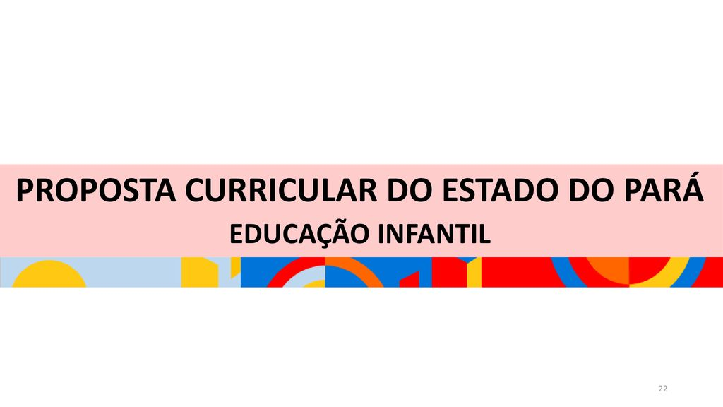 PROPOSTA CURRICULAR DO ESTADO DO PARÁ
