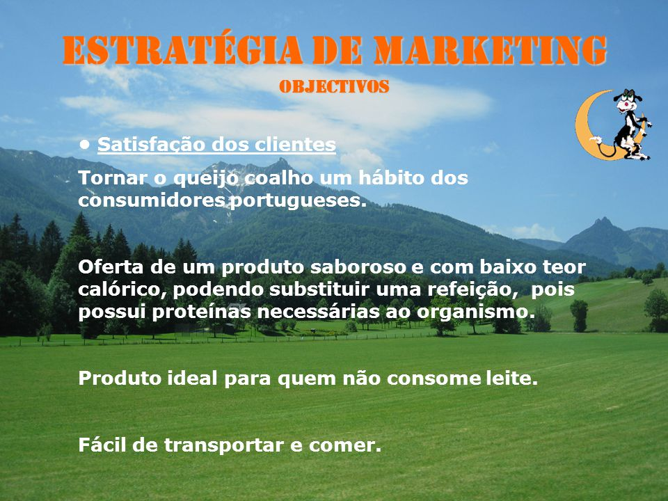 Estratégia de Marketing Objectivos