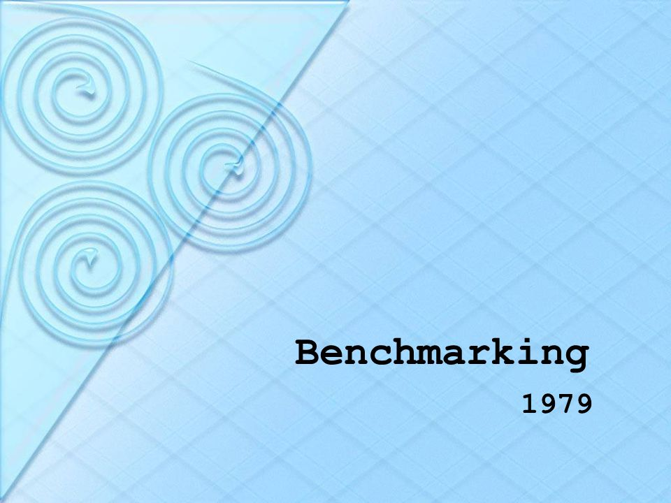 Benchmarking 1979