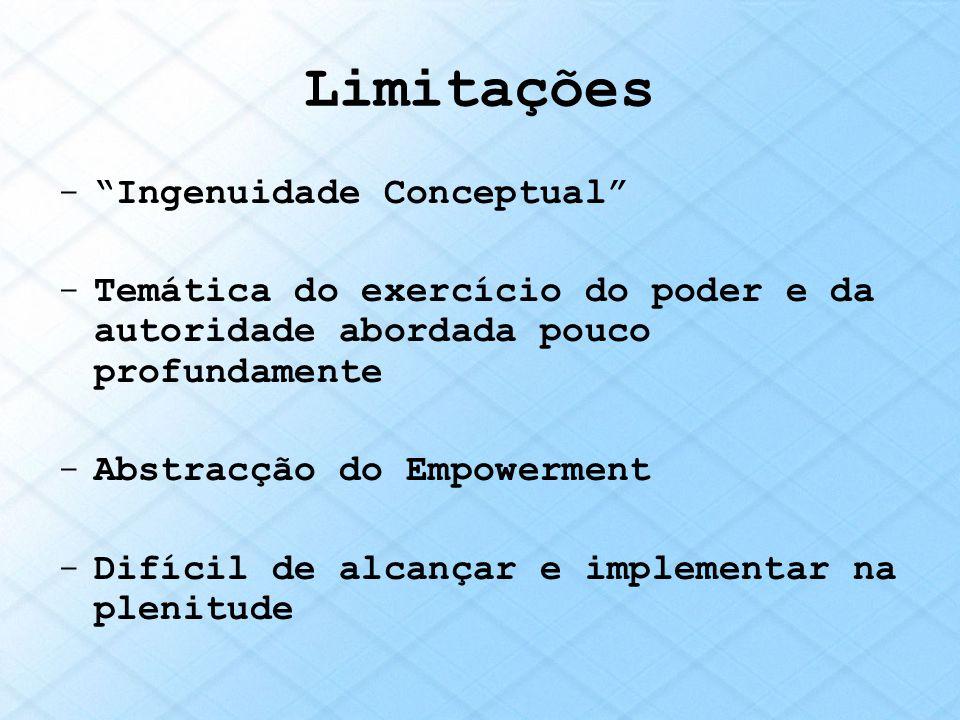 Limitações Ingenuidade Conceptual