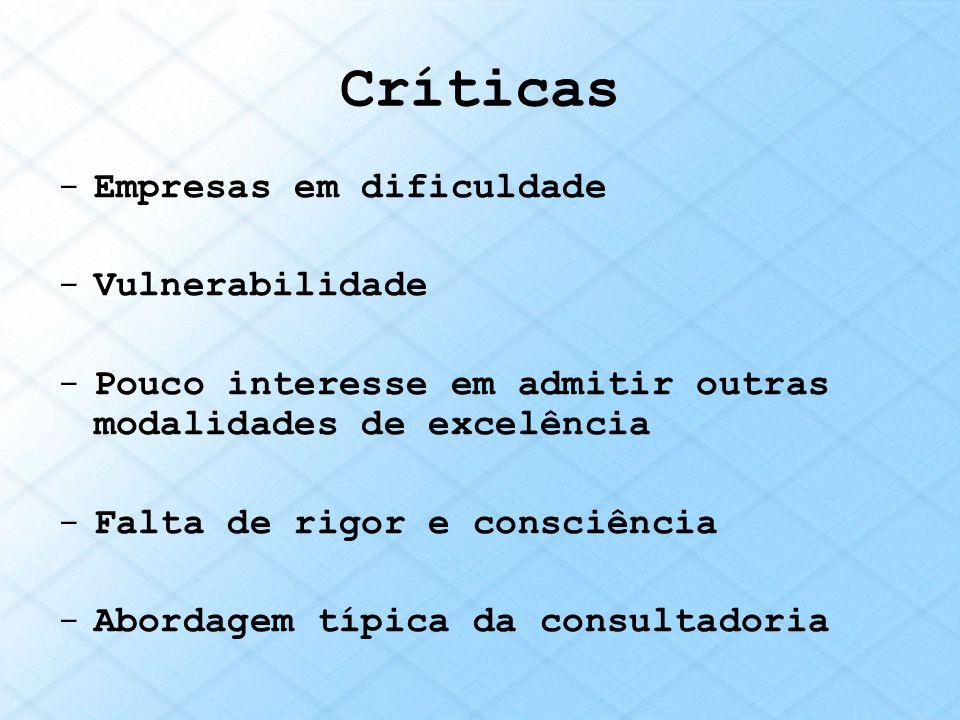 Críticas Empresas em dificuldade Vulnerabilidade