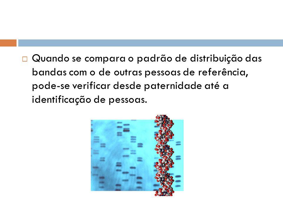 Quando se compara o padrão de distribuição das bandas com o de outras pessoas de referência, pode-se verificar desde paternidade até a identificação de pessoas.