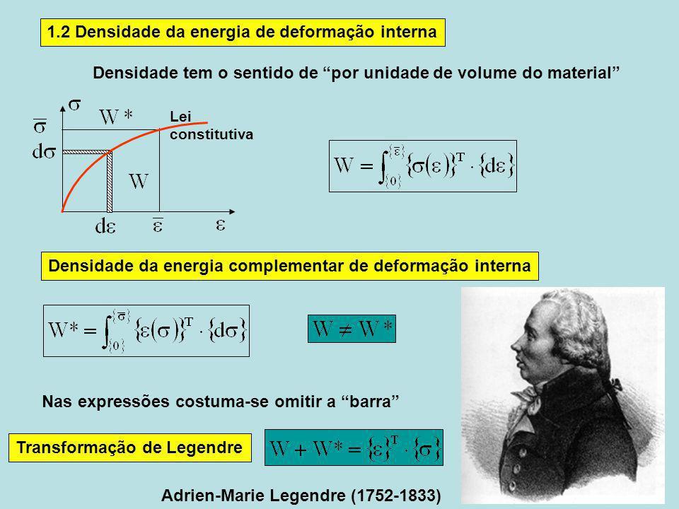 1.2 Densidade da energia de deformação interna