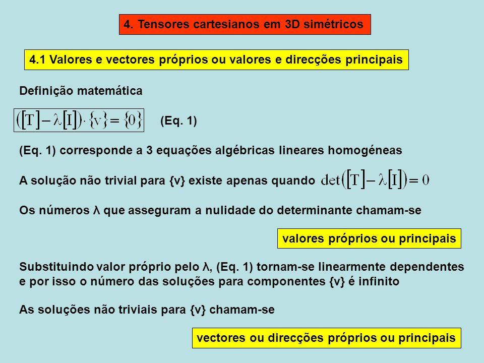 4. Tensores cartesianos em 3D simétricos