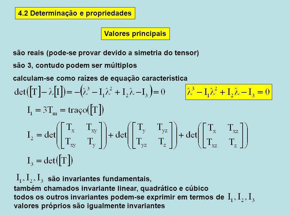 4.2 Determinação e propriedades