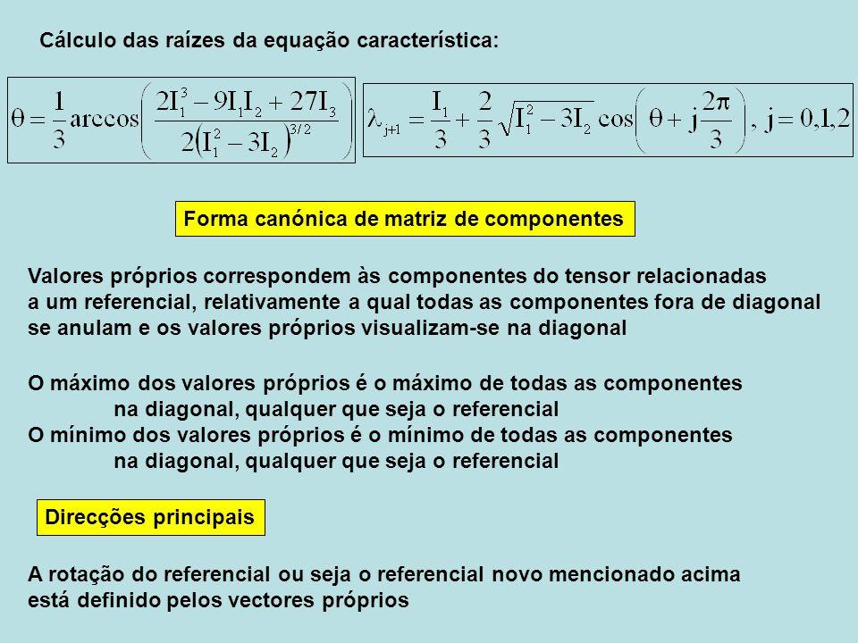Cálculo das raízes da equação característica: