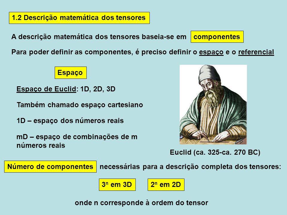1.2 Descrição matemática dos tensores