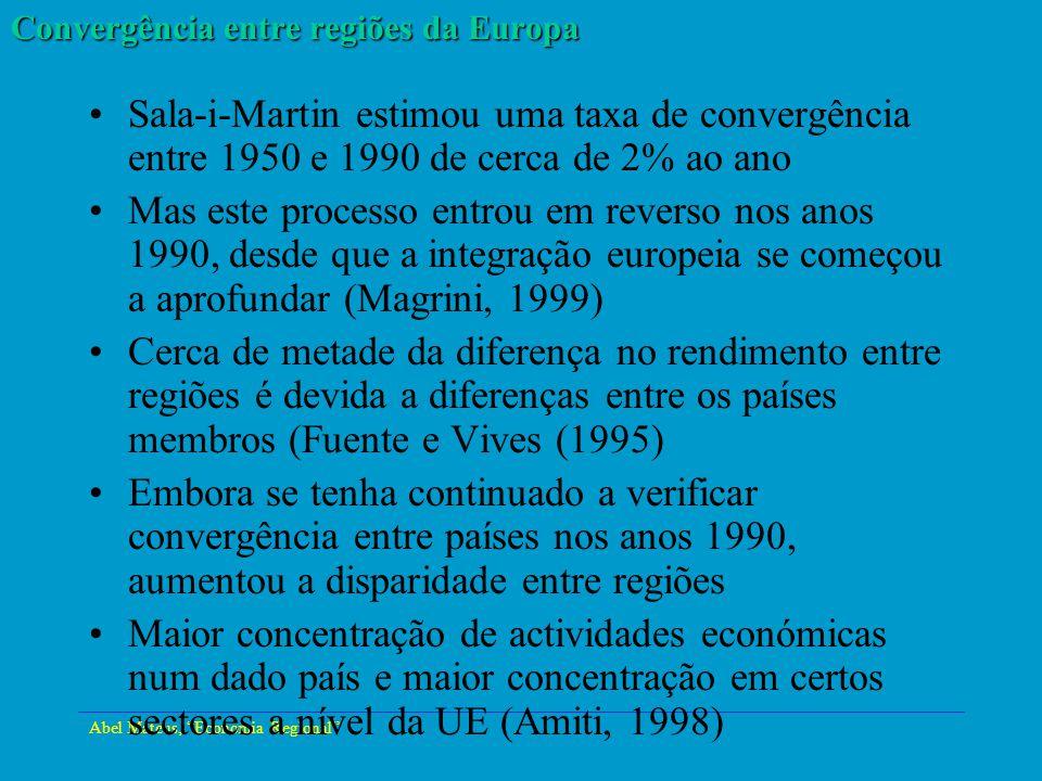 Convergência entre regiões da Europa
