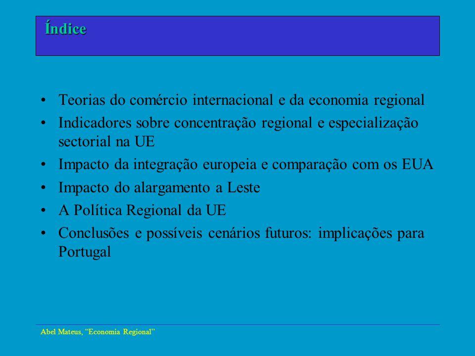 Teorias do comércio internacional e da economia regional