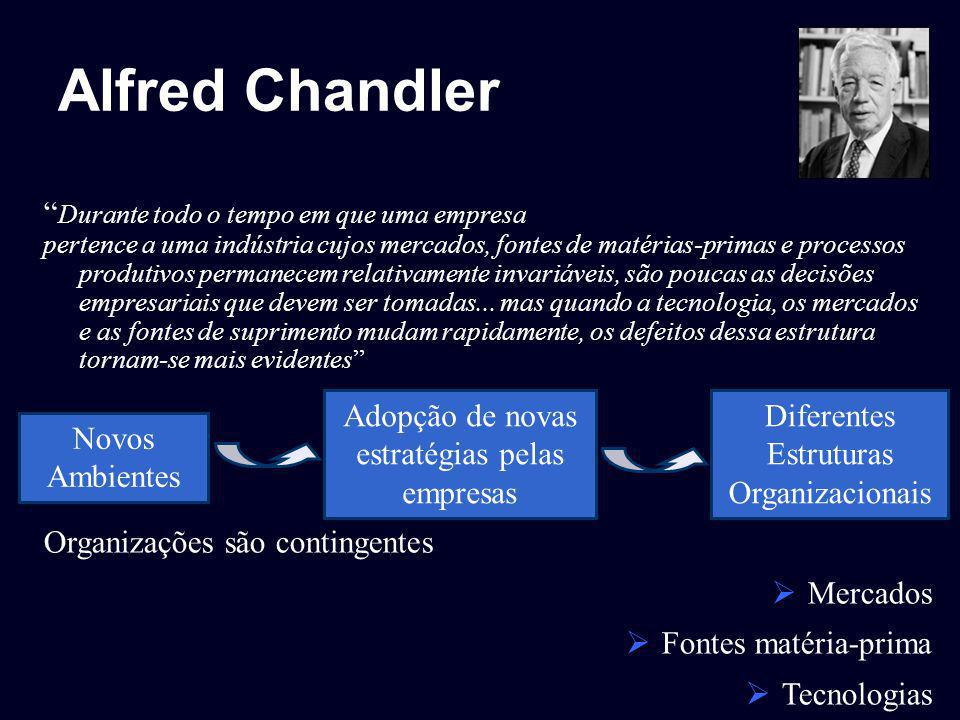 Alfred Chandler Durante todo o tempo em que uma empresa