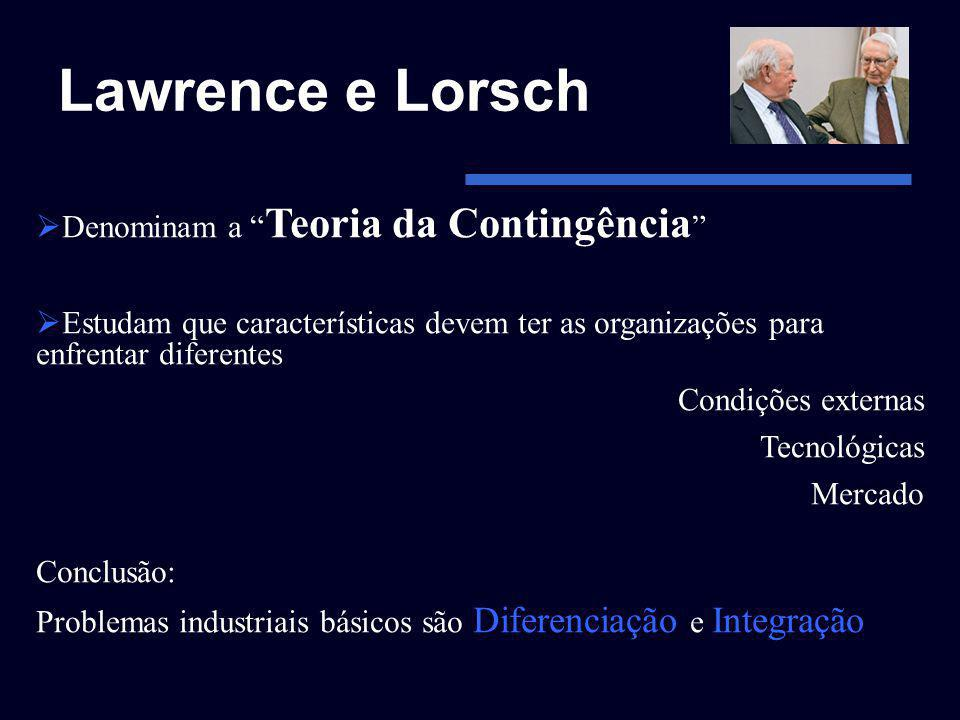 Lawrence e Lorsch Denominam a Teoria da Contingência