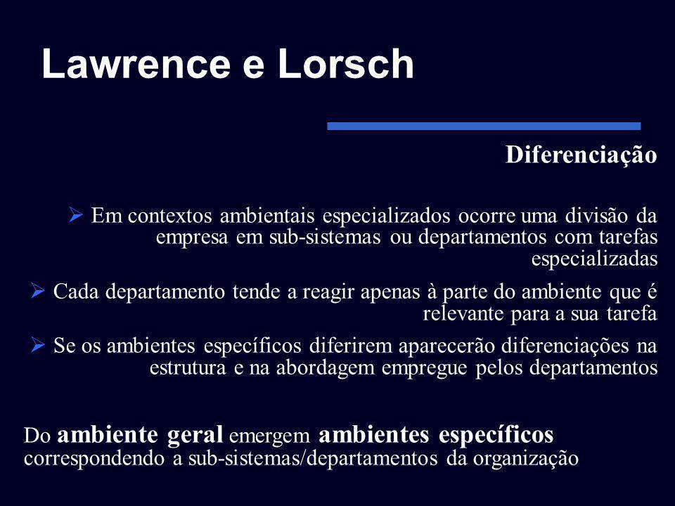 Lawrence e Lorsch Diferenciação